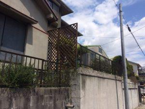 LIXILフェンス+生垣撤去
