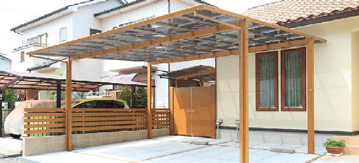カーポート 木調 名古屋
