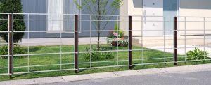 独立施工3 鋳物 フェンス 安い シンプル デザイン 新築 エクステリア 見積り 相談 外構 名古屋 守山 春日井