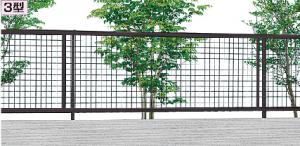 3型 アルメッシュフェンス 名古屋 守山 春日井 安い フェンス おしゃれ 植物 目隠し 境界
