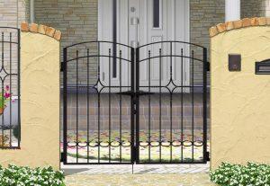 2型 安い 門扉 鋳物 門扉 名古屋 春日井 守山 新築 外構 門まわり