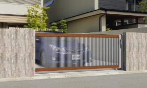 M2型 新築 ラグード 車庫周り 車庫ゲート おしゃれ コーディネート 木調 名古屋 春日井