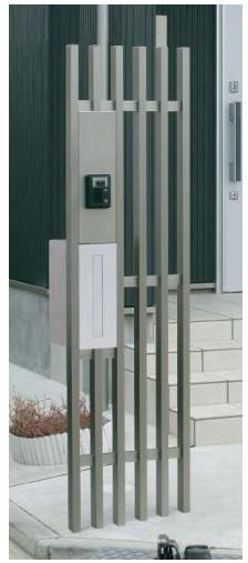 デザイン門柱 格子