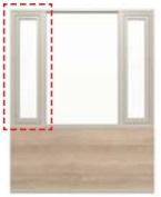 ガーデンルームGF 腰壁 横すべり出し窓